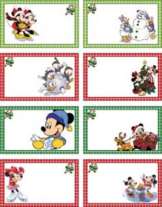 Mickey Christmas Tags, Mickey Mouse, Gift Tags - Free Printable