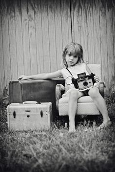 Vintage camera and suitcases