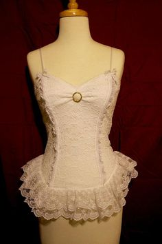 10 Off Steampunk Neo Victorian Ballet Lace Top by PatchedJester, $40.00