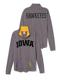 University of Iowa Raw Half-zip Pullover