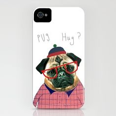 $35 Pug Hug iPhone 4 Case