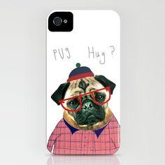 $35 Pug Hug iPhone 4 Case
