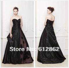 Cheap wedding dress charm, Buy Quality wedding dresses ruffles directly from China dress up games free games Suppliers: Elegant Sweetheart Neckline Taffeta Designer Black Wedding Dresses Salecolor chart: 1.satin:2.chiffon:3.taffeta:&nb
