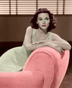 We don't often see Hedy Lamar in color pictures...she has to be one of the most beautiful women ever to have lived.