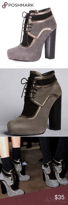DKNY lace up heeled booties 💃 DKNY lace up heeled booties super chic and thick heel makes it easy to walk despite the height. Worn only once or twice. - Reasonable offers always considered! DKNY Shoes Ankle Boots & Booties