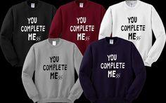 You Complete Me 5SOS Luke Hemmings Sweater Sweatshirt Crewneck Men or Women Unisex Size