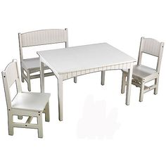 KidKraft Nantucket Long Table with 2 Chairs and a Bench
