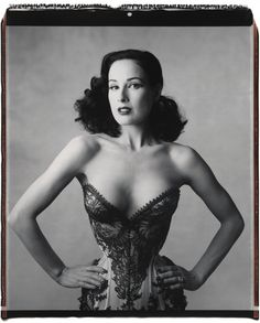 Looks great, but she is 5 foot tall and the size of a 9 year old girl with some boobs stck on her chest....lol...   Dita Von Teese by Mary Ellen Mark, Manhattan, New York (2006) Mr Pearl corset