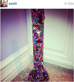 bedazzled bong. So im hoping mine ends up looking like this, just in smaller form :p