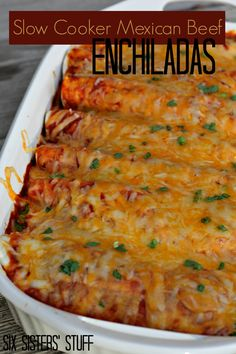Slow Cooker Mexican Beef Enchiladas on MyRecipeMagic.com