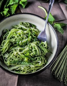 Green Tea and Zucchini Noodles with Honey-Ginger Sauce Recipe - RecipeChart.com
