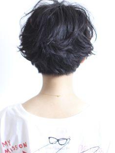 back view short hair