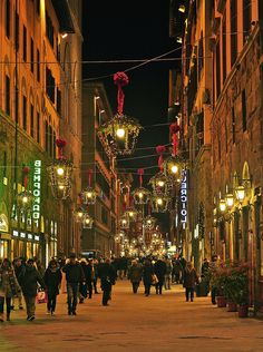 Christmas in Florence, Italy - literally i live here right now and this is what i walk under every day :)