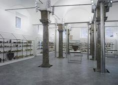 La cavallerizza dopo il restauro di Gae Aulenti ospita l´esposizione archeologica della Fondazione Sicilia