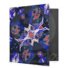 Decorative Retro Binder from Zazzle.com    decorative , blue , nature , retro , red , symmetric , female , flower , digital , elegant , decoration , women , teens , flowers , natural