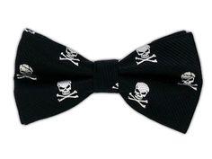 Skull and Crossbones - Black (Bow Ties)