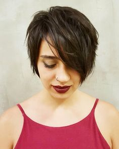 Brunette+Layered+Pixie+Bob