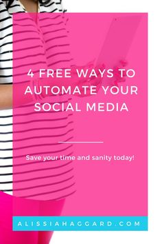 How you can automate your social media for free- i�