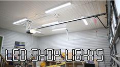 LED Shop Lights for the Garage (with Alexa Control) — 731 Woodworks - We Build Custom Furniture. Led Garage Lights, Led Shop Lights, Garage Lighting, Shop Lighting, Storage Shed Organization, Wood Shop Projects, Led Fluorescent, Led Diy