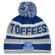 Everton New Era Cuff Bobble Knit - Blue/Grey - Junior: New Era Cuff Bobble Knit - Blue/Grey - Junior… #EvertonStore #EvertonShop #EvertonFC