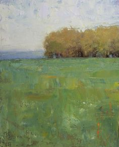 """""""Soft Green"""" by Don Bishop. Oil plein air. 10 x 8. Why This Works: Beautiful, Simple Design"""