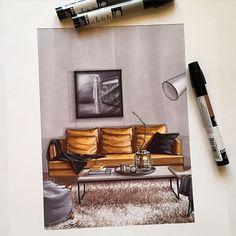 #скетч  #дизайн  #интерьер  #маркеры  #дизайнинтерьера #decor  #design  #sketch  #sketching  #interior  #interiordesign  #interiorsketch