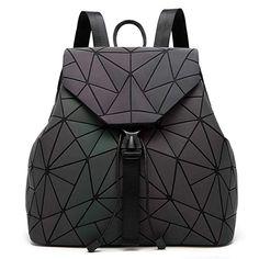 384cad02d28a Amazon.com | DIOMO Geometric Lingge Laser Women Backpack Luminous Travel  Shoulder Bag Satchel Rucksack