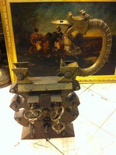 huge old padlock