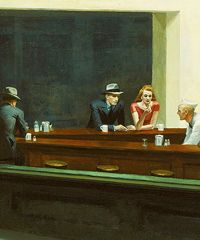 """Edward Hopper's """"Night Hawks"""" owned by the Art Institute of Chicago."""