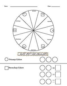 free elements of art color wheel worksheet and lesson homeschool art pinterest color. Black Bedroom Furniture Sets. Home Design Ideas