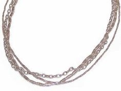 "MyStrand Sterling Silver Multi Strand Necklace Set, Adjustable Length 16"" - 24"" - 32"""