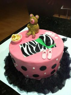 Sleepover Birthday Cake--would love this in turquoise!