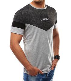 12fee657 Pánske šedé tričko s potlačou Tattoo T Shirts, Polo Club, Shirt Print Design ,