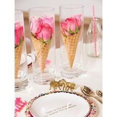 WEBSTA @ littlebigcompany - V pretty table centrepiece idea by @glosseventsanddecor for her unicorn and sprinkles party