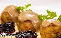 Svéd húsgolyók mártással recept fotóval Baked Potato, Potatoes, Chicken, Meat, Baking, Ethnic Recipes, Food, Bread Making, Patisserie
