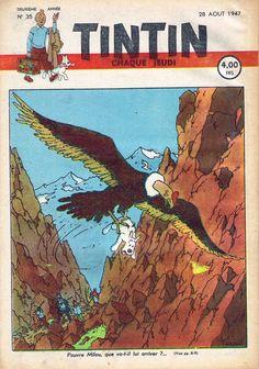 Le Journal de Tintin - Edition Belge - N° 49 - 1947-35 - Jeudi 28 Août 1947 - Couverture : Hergé