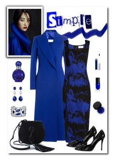 """""""Maison Margiela Cobalt Wool Coat"""" by romaboots-1 ❤ liked on Polyvore featuring Maison Margiela, Osman, Roger Vivier, Yves Saint Laurent, Lancôme, Anastasia Beverly Hills, MAKE UP FOR EVER, Britney Spears and BillyTheTree"""