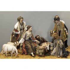 Belén con Reyes Magos y Tres Ovejas, 50 cm Angela Tripi | venta online en HOLYART