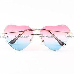 Fashion Women Heart Shaped Gradient Ramp Sunglasses Metal Frame Eyeglasses  GTD 51adcec1c7