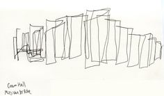 """This sketch for me does much to tie Mies to the Classical era of architecture. """"Less is More"""" as a mantra is about expressing more ideas with less effort. Comparing the elegance of Crown Hall to that of the Parthenon is always apt. Essentially they are both about order, symmetry, geometry, and ratios."""