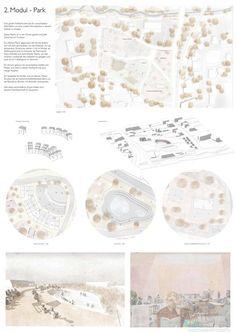 'Modularity' Urban Landscape Project - illustrarch Landscape Architecture Model, Architecture Drawing Plan, Conceptual Architecture, Architecture Sketchbook, Landscape Design Plans, Architecture Wallpaper, Architecture Collage, Architecture Graphics, Urban Landscape