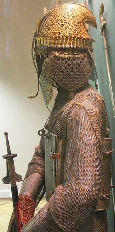 Indian (Maratha), top (helmet), char aina (curaiss), dastana (vambrace/arm guard), Hermitage Museum, St Petersburg, Russia.