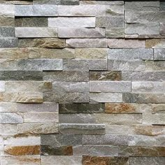 Order Stone Design Thin Natural Ledgestone Wall Panel / Contemporary Canyon Beige / Panel / delivered right to your door. Stone Mosaic Tile, Mosaic Tiles, Stone Wall Tiles, Tiling, Faux Stone Panels, Rock Fireplaces, Stone Fireplaces, Stone Veneer Fireplace, Cabin Fireplace