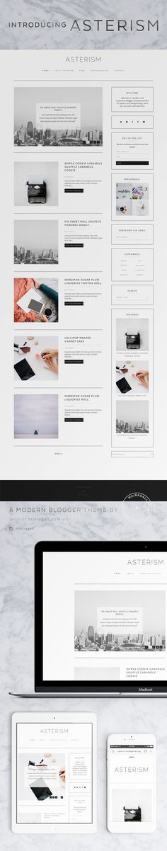 Modern Blogger template, perfect for fashion blogs. Blog layout.