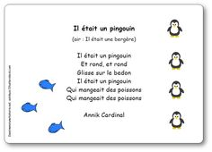 Comptine Il était un pingouin d'Annik Cardinal