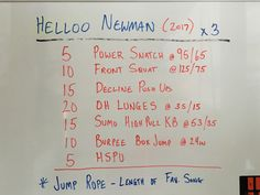 ...and in with the new. Enjoy this workout from the Garage!