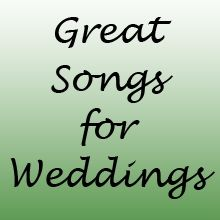 The music for your wedding sets the overall tone for the day so its important to pick the right songs. Whether you're looking for songs for your...