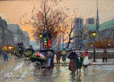 Flower Seller, Paris - Edouard Cortes