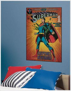 Superman poster decal