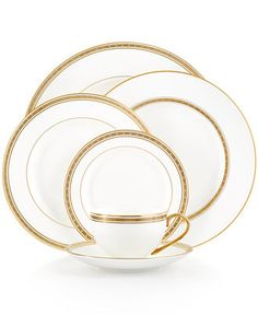 kate spade Oxford Place Collection, a modern twist on classic china